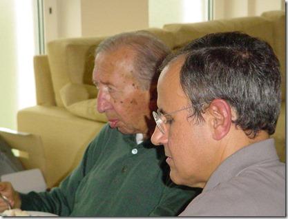 Don Giussani insieme a Julián Carrón